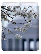 Closeup Of Cherry Blossoms Duvet Cover