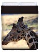 Closeup Of Giraffe Duvet Cover