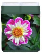 Closeup View Of A Dahlia That Was In The Cesky Krumlov Castle Gardens Duvet Cover