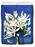 Closeup White Californian Flower Duvet Cover