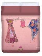 Clothes Line Mural Burlington Vermont Duvet Cover