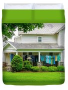 Clothes On The Front Porch Duvet Cover