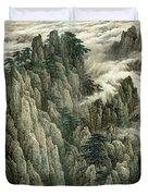 Cloud And Mountain Peak Duvet Cover