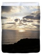 Cloud Break Sunset At  State Natural Reserve In San Diego Duvet Cover