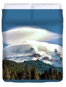 Cloud Capped Mount Hood Duvet Cover