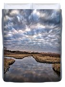 Cloud Covered River 2 Duvet Cover