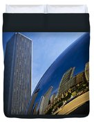 Cloud Gate And Aon Center Duvet Cover