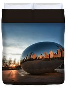 Cloud Gate At Sunrise Duvet Cover