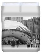 Cloud Gate Chicago Bw 2 Duvet Cover