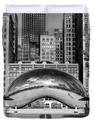 Cloud Gate Park Black And White Duvet Cover