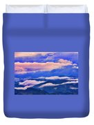 Cloud Layers At Sunset Duvet Cover
