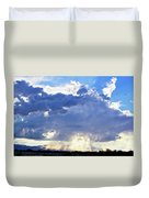Cloud Storm On The Horizon Duvet Cover