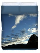 Cloud Sweep And Silhouette Duvet Cover