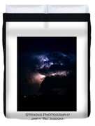 Cloud To Cloud Lightning Photography Poster Duvet Cover
