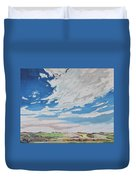 Clouded Sky On The Valley Duvet Cover