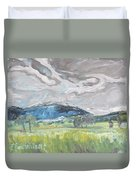 Clouded Sky Over Woburn Quebec Canada Duvet Cover