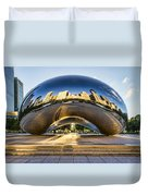 Cloudgate In Chicago Duvet Cover