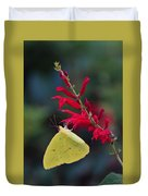 Cloudless Sulphur And Pineapple Sage Duvet Cover