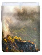 Clouds Above The Crest Of The Mountain Duvet Cover