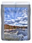 Clouds Above The Lock And Dam Duvet Cover