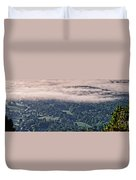 Clouds Above The Valley Panoramic Duvet Cover