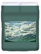 Clouds Alaska Mtns  Duvet Cover