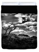 Clouds And A Tree Baw Duvet Cover