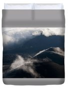 Clouds And Cinder Cones Duvet Cover