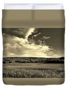 Clouds And Cornfields Duvet Cover