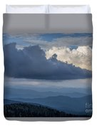 Clouds And Mountain Range Duvet Cover