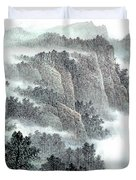 Clouds And Mountains Duvet Cover
