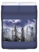 Clouds And Snow Swirling Duvet Cover