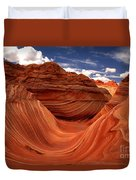 Clouds And Sun Over The Wave Duvet Cover