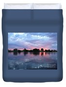 Clouds And Sunset Reflection In Prosser Duvet Cover