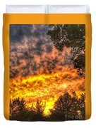 Clouds And Sunset  Duvet Cover