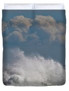 Clouds And Waves Duvet Cover