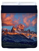 Clouds Around Fitz Roy - Patagonia Duvet Cover