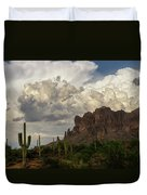 Clouds Bubbling Over The Superstitions  Duvet Cover