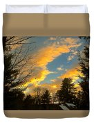 Clouds Catching The Evening Light Duvet Cover
