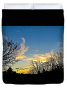 Clouds Dancing To The Sunset Light Duvet Cover