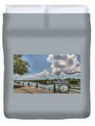 Clouds Down The Bay Duvet Cover