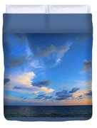 Clouds Drifting Over The Ocean Duvet Cover