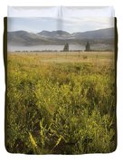 Clouds Hang Over The Rio Grande River Duvet Cover