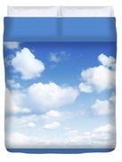 Clouds In Blue Sky Duvet Cover