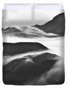Maui Hawaii Haleakala National Park Clouds In Haleakala Crater Duvet Cover