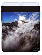 Clouds In The Caldera De Taburiente Duvet Cover