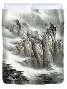 Clouds In The Mountain Duvet Cover