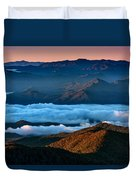 Clouds In The Valley Duvet Cover