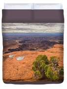 Clouds Junipers And Potholes Duvet Cover