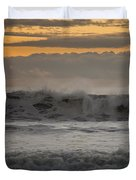 Clouds Mimicking Waves Duvet Cover